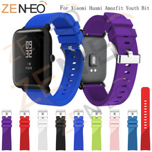 Sport Silicone Strap For Xiaomi Huami Amazfit Bip BIT PACE Lite Youth Smart Watch Band for Huami Amazfit Youth Bracelet Strap mijobs 20mm silicone wrist watch band strap for xiaomi huami amazfit bip bit pace lite bracelet smart watch pulseira accessories