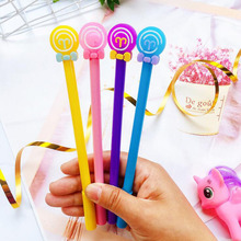 1pc Kawaii Donut Gel Pen Cartoon Student Creative Stationery Black Ink Signature Pen Office School Supplies Cute Donut Pen 0.5mm 48 pcs gel pens cartoon donut pen black ink gel inkpens for writing cute stationery office school supplies wholesale donut pen