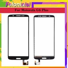 10Pcs/lot For Motorola Moto G6 Plus Xt1926-5 XT1926-8 XT1926-6 XT1926 Touch Screen Digitizer Front Outer Glass Panel Sensor