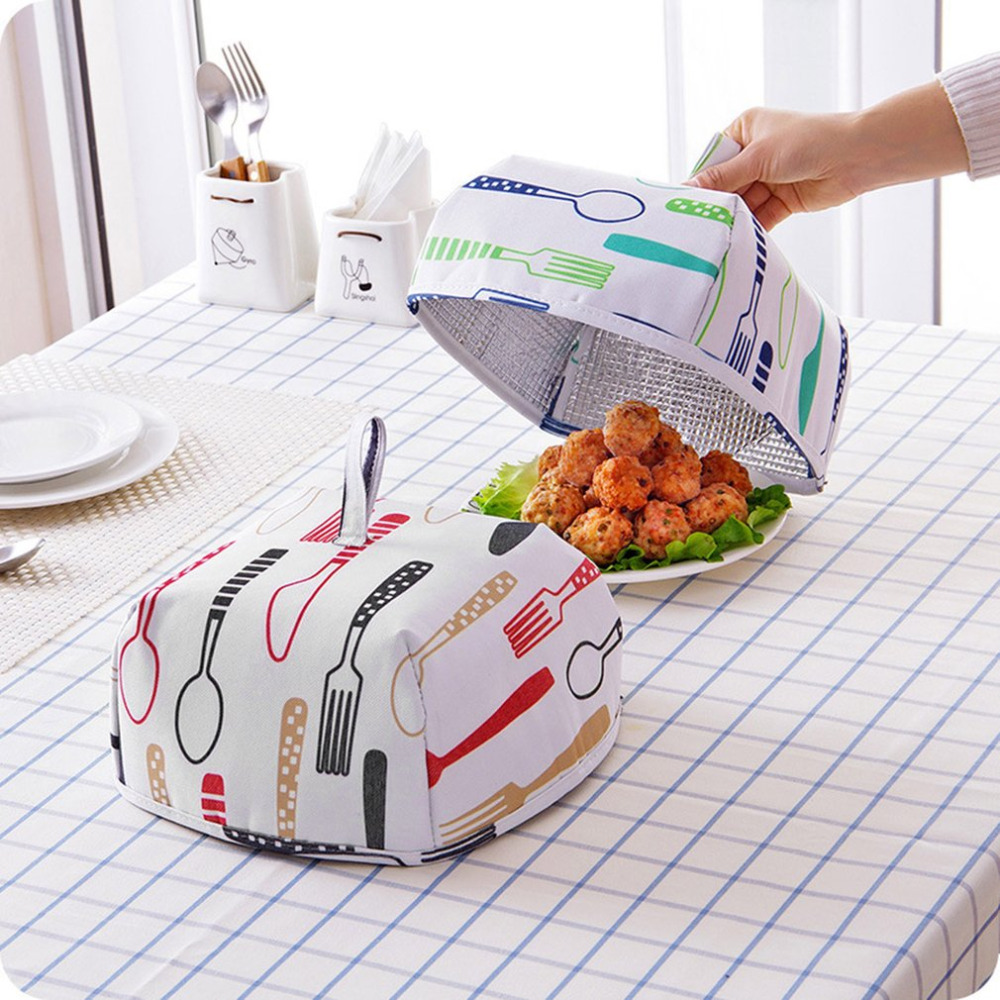 Kitchen Table With Food: Kitchen Dining Table Food Cover Foldable Keep Warm Hot Food Cover Lid Cover Aluminum Foil