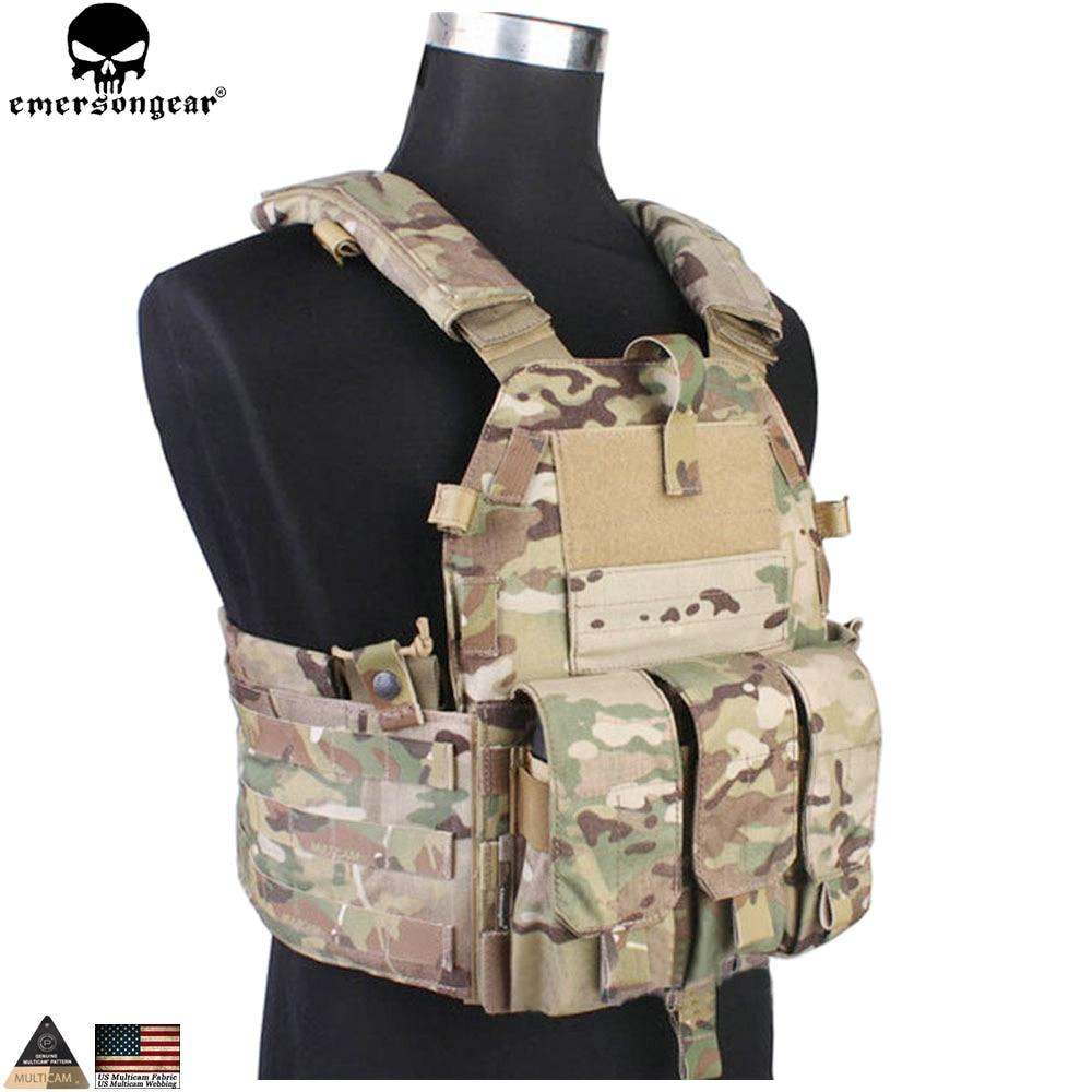 EMERSONGEAR Tactical Modular Vest med Airsoft 094K M4 Mag Pouch - Sportkläder och accessoarer - Foto 2