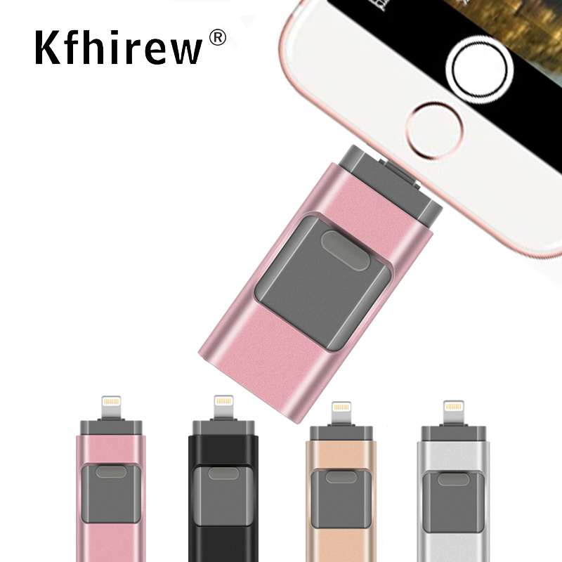 Heißer OTG USB-Stick Für <font><b>iPhone</b></font> X/8/7/7 Plus/<font><b>6</b></font>/<font><b>6</b></font> s /5/SE/ipad USB Flash Disk USB Stick Pen Drive 64GB <font><b>32GB</b></font> 128GB 2,0 image