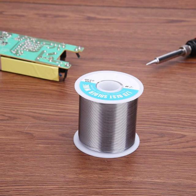 100M Solder Wire 500g 0.8mm Diam Clean Rosin Core Welding Tin Lead Solder Iron Wire Rosin Core 3% Flux Reel Soldering Tools 1