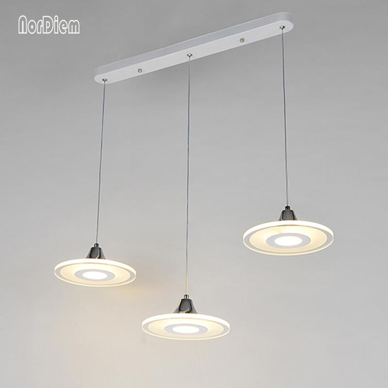 llevados modernos luces colgantes accesorios con cortinas de la lmpara de acrlico para la cocina comedor