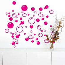 1pc bubbles wall sticker art bathroom window shower tile decor decal kid car sticker waterproof and