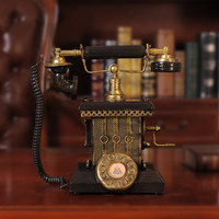 Retro nostalgic wrought iron telephone piggy bank decorative ornaments bar cafe furnishings props decorations