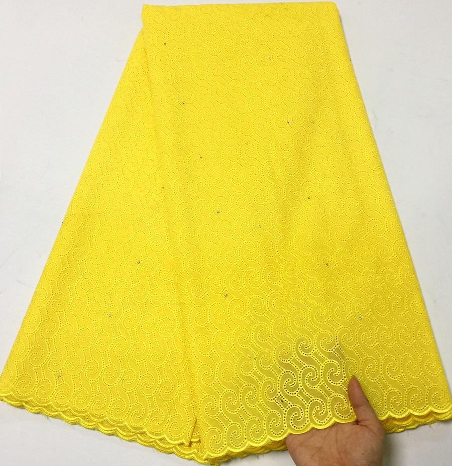 Żółty kolor szwajcarski bawełniany woal z koronką z kamienia 2018 wysokiej jakości bawełniane koronki szwajcarski woal koronki tkaniny w szwajcarii w Koronka od Dom i ogród na  Grupa 1