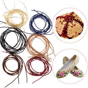 DIY Crafts Embroidery Thread Bullion Wire Metal Gold Silver Wire Copper Silk Diameter 1.0mm Round Bright Silk Hand Cross Stitch(China)