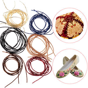 Cross-Stitch Embroidery Thread Silver-Wire Metal Copper Gold Round Hand Diy-Crafts Bright-Silk