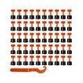 Sistema de nivelación de azulejos reutilizables 100 piezas suelo de pared de libélula con 2 piezas llave de azulejo de colocación Anti Lippage DIY nivelador de azulejos prensadas Bohemia
