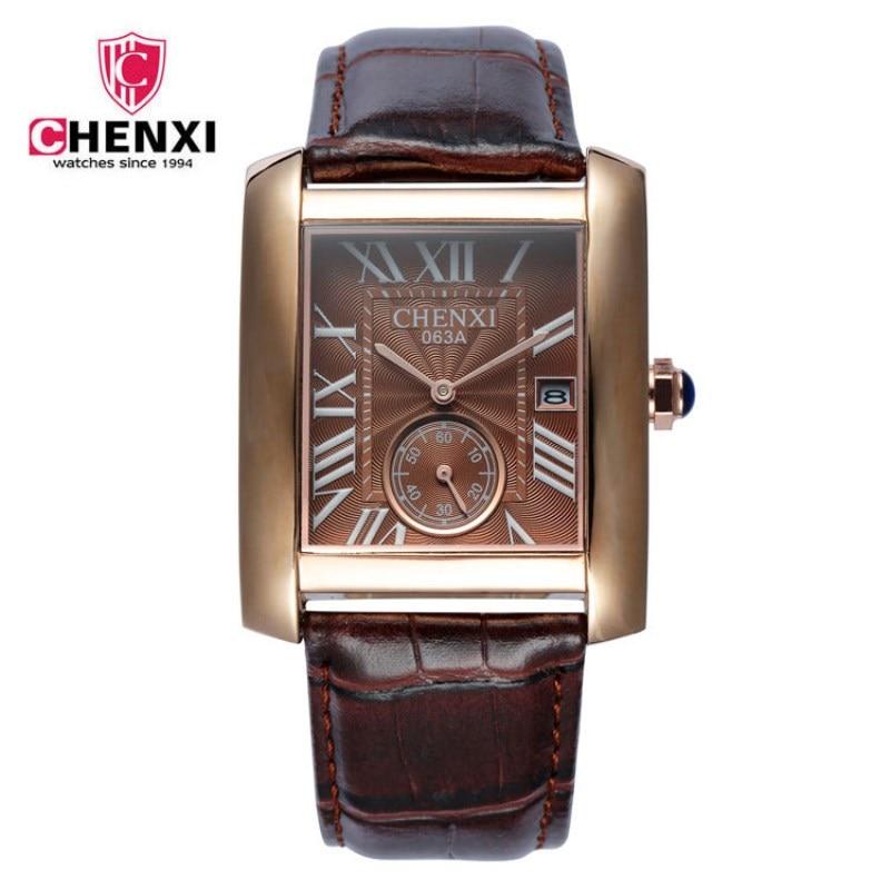CHENXI Men Quartz Watches Small Dial Can Work Fashion Classic Square Watch Retro Style With Calendar Men Wristwatches PENGNATATE часы rolex daytona