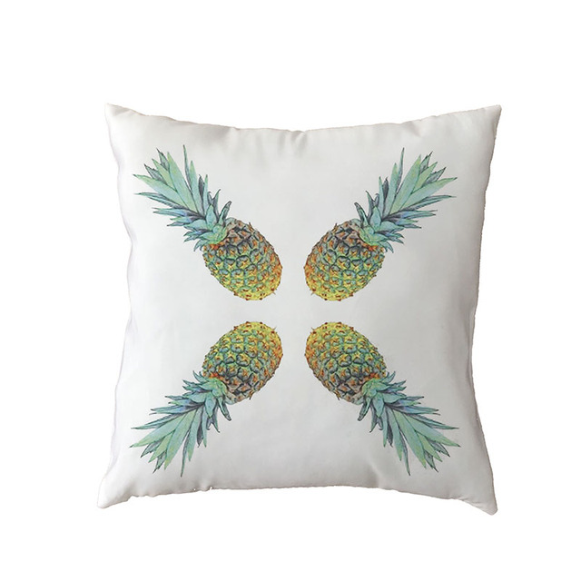 Abstract Simple Polyester Peach Skin Fruit Pineapple Watermelon Leaf Pomegranate Home Bedroom Sofa Living Room Decor Pillow Case Cushion Cover Aliexpress