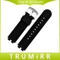 22mm pulseira de borracha de silicone para pebble aço 2 smart watch Substituição banda Strap Pulseira de Resina com & Ferramenta de Barra de Mola preto