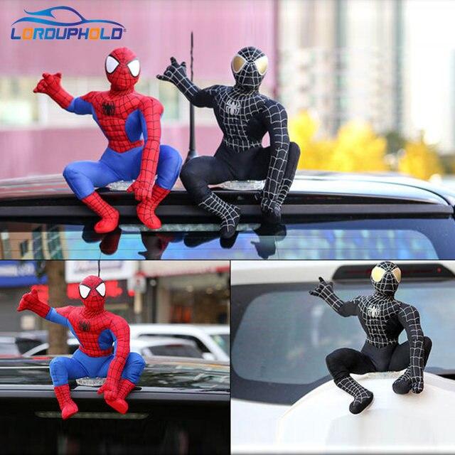 Homem Aranha engraçado Bonecas Para Carro Decoração Telhado Auto Modelo de Brinquedo Removível Adorável Spiderman Boneca Ragdoll Munecas Coche Decoracion