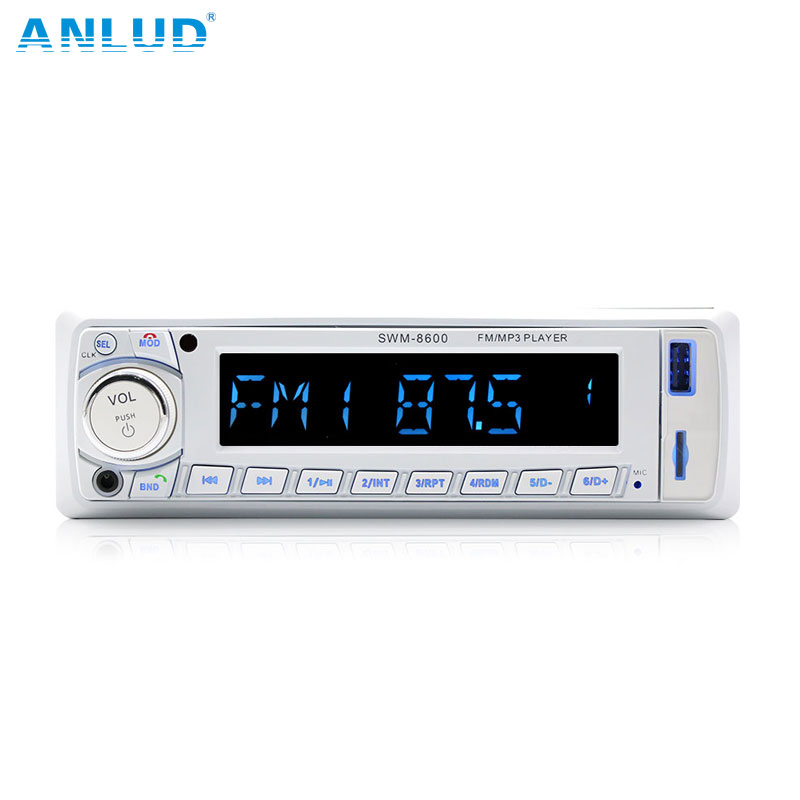 ANLUD Bluetooth Car Audio Stereo 60WX4 Car Radio 12V In-dash 1 Din FM Aux Input Receiver USB MP3 MMC WMA Car Radio Mp3 Player