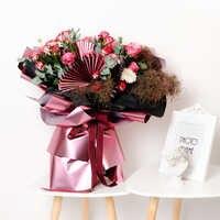 60x60cm Neue Blume Verpackung Papier Schwere Metall Bouquet Verpackung Materialien Hochzeit Valentinstag DIY Geschenk Wrap decor Gold Blatt