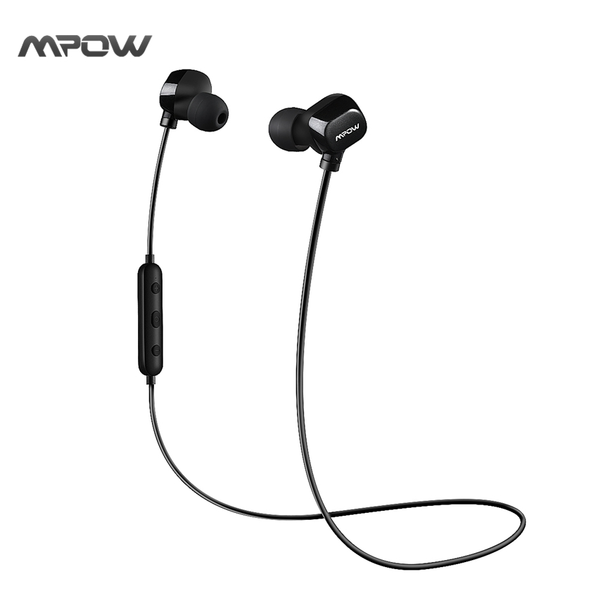 mpow bluetooth headset in ear sweatproof sports earbuds for running cvc6 0 noise cancelling. Black Bedroom Furniture Sets. Home Design Ideas