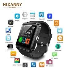 Купить с кэшбэком HOT Bluetooth Men Smart Watch U8 SmartWatch Hours Support TF Card For Samsung Huawei Xiaomi LG Android Phone ios Apple iphone A1
