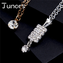 JUNORS Square Big Drop Crystal choke Pendant&necklace Geometry Religious Jewelry Accessories For Women Girl