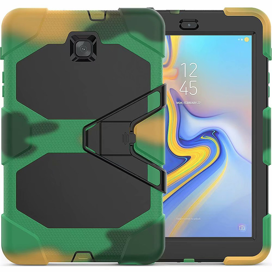 For Samsung Galaxy Tab A 8.0 T387 SM-T387 2018 Shockproof Rugged Case High Impact Resistant Defender Full Body Protective Cover