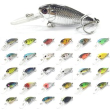 wLure Fishing Lure Hard Bait Deep Diver Tight Wobble Jerkbait Epoxy Coating Black Nickel Treble Hooks 7g 5cm Crankbait  C549