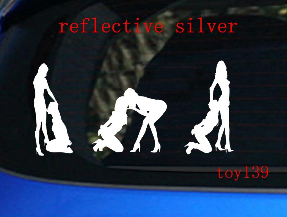 Sexy beauty hot beautiful girl woman funny car window decal sticker reflective silver on aliexpress com alibaba group