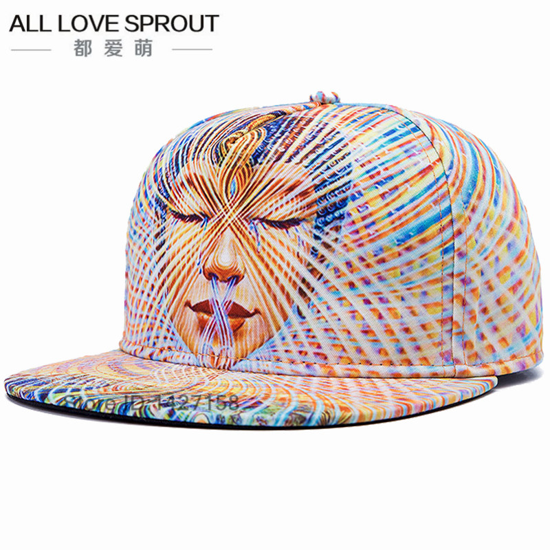 2018 marcas 3D Color impresión Buda hombres mujeres sombrero sombreros  gorra de béisbol tendencias de moda Hip Hop Snapback gorras hueso envío  libre en ... 45334146bdc