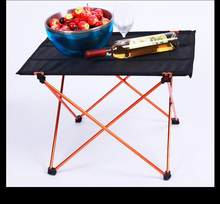 Ultralight Leisure Folding Tables Portable Camping Table Outdoor Aluminium Alloy Folding Picnic Table(China)
