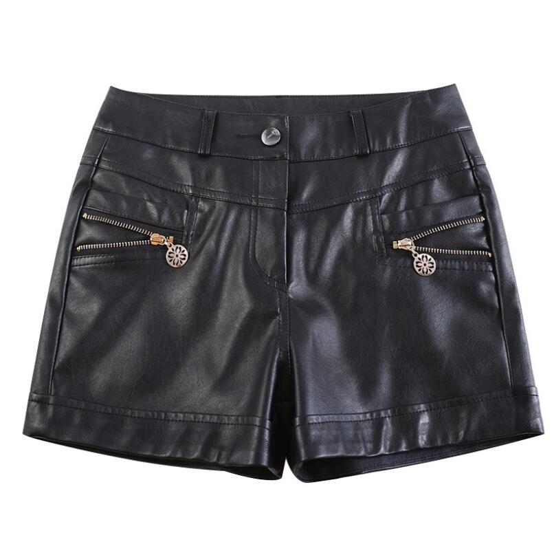 New Arrived 2019 Fashion Women's Short PU Black One For Friend