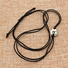 925 Steling Silver Handcuff Shaped Pendant Necklace