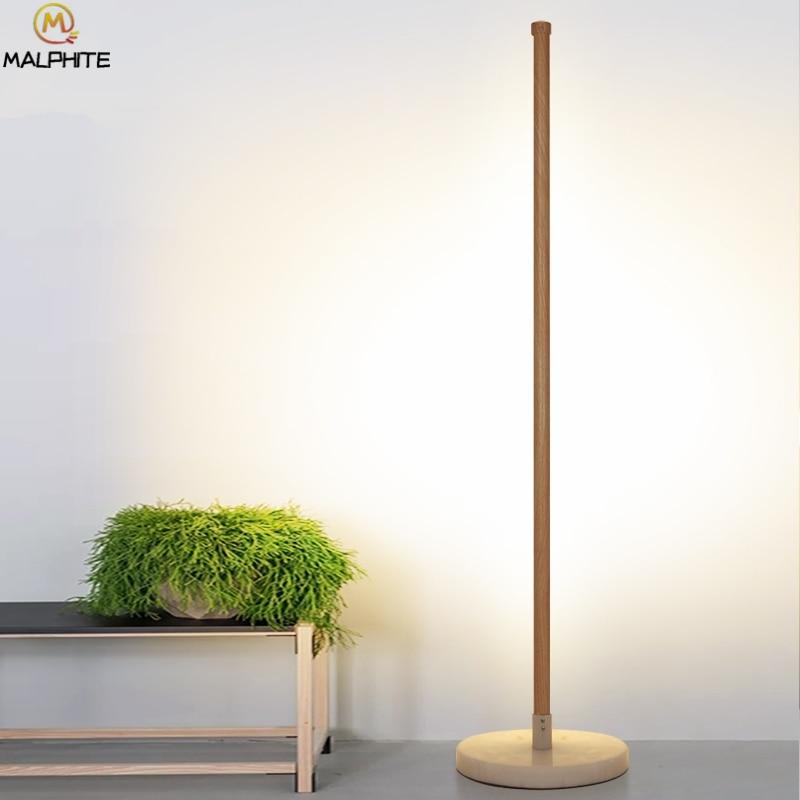 floor lamp modern Standing Lamp Bedroom Luminaire Marble Base Floor Lamp for Living Room Wooden Light Fixtures floor color lamp Floor Lamps     - title=