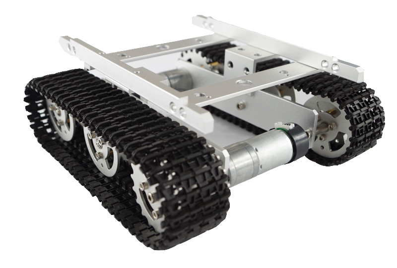 Hello Maker T100-M Silver Alloy DIY Tank Chassis Robbot Chassis unbrand diy sushi maker