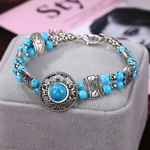 HOCOLE Natural Stone Bead Chain Bracelet Female Bohemian Jewelry Multilayer Charm Bangle Bracelets For Women Party Girls Gift