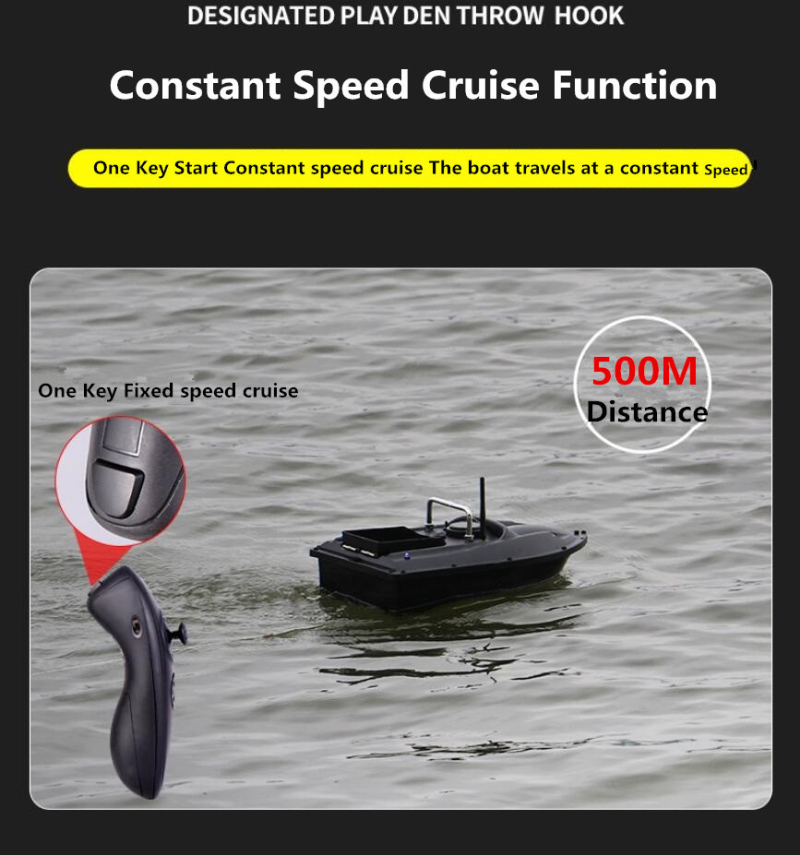 Upgrade One Key Fixed Speed Cruise Wireless Intelligent Remote Control Fishing Boat 500M Night Light Lure Fishing RC Bait Boat