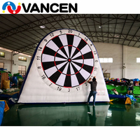 4m PVC single side inflatable football dart sport games portable inflatable soccer dart board with 6 balls