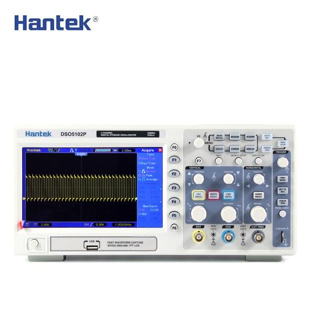 Oscilloscope DSO5102P Hantek Digital Storage 100MHz 2channels 1GSa/s 7 TFT LCD Better than Ads1102cal+
