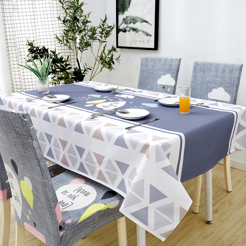 Image 2 - Parkshin Modern Decorative Tablecloth Home Kitchen Rectangle Waterproof Table Cloths Party Banquet Dining Table Cover 4 Size-in Tablecloths from Home & Garden