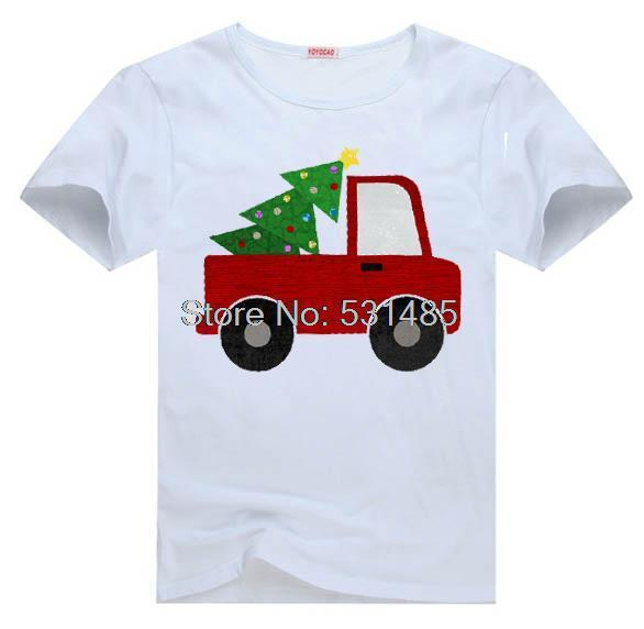 3491aa6ad8b Christmas Tee Christmas Tree Truck t shirt for toddler kids children boy  girl cartoon t-shirt