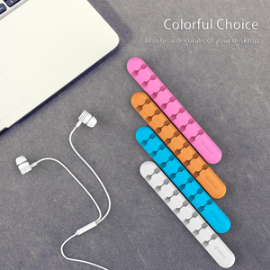 Image 3 - ORICO CBS Cable Winder Earphone Cable Organizer Wire Storage Silicon Charger Cable Holder Clips for MP3 ,MP4 ,Mouse,Earphone