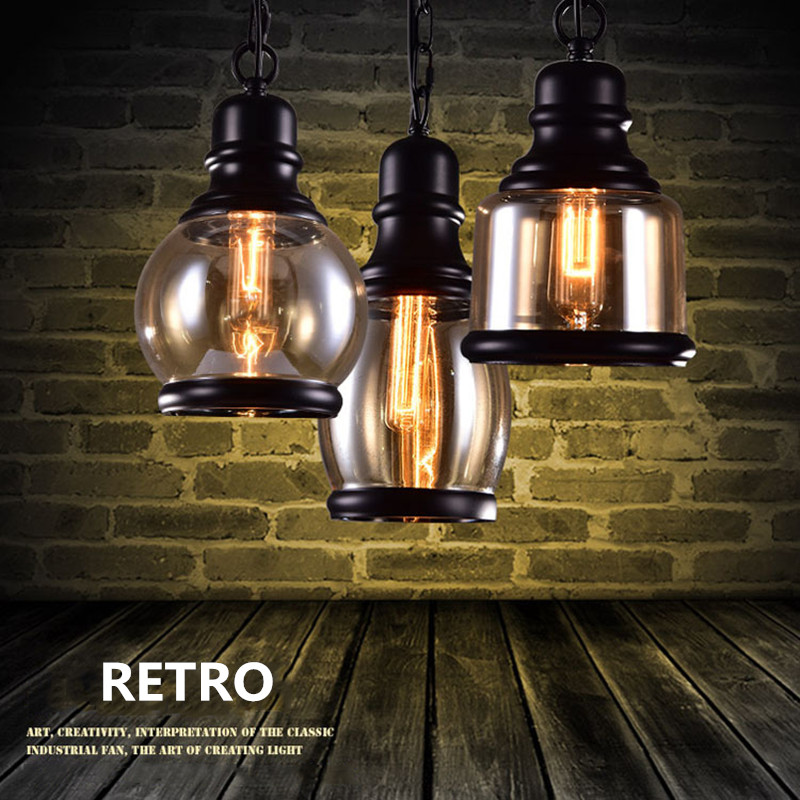 Nordic Retro Loft LED Pendant Light Vintage Hemp Rope Lamp Industrial Glass Iron Hanging Home Fixtures for Bar Restaurant Cafe vintage loft industrial edison flower glass ceiling lamp droplight pendant hotel hallway store club cafe beside coffee shop