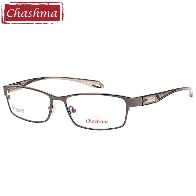 55c07650896 Chashma Brand Sport Stylish Eyewear Men Full Rimmed Titanium Frame TR 90  Flexible Temple Transparent Lenses Light Eye Glasses