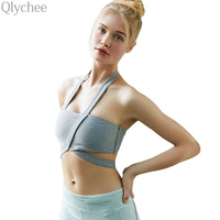 Sexy Summer Strap Bandage Women Crop Top Halter Neck Asymmetry Design Tank Top Women Short EXposed