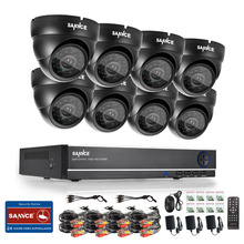 SANNCE 8CH 960H HD CCTV System video Surveillance kit 8pcs 800TVL Indoor/Outdoor Security camera System home protection CCTV set