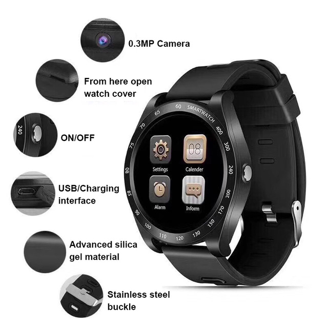f8b058dbf609 Reloj inteligente de las mujeres los hombres pantalla táctil Bluetooth  banda pulsera Smartband deporte SIM TF tarjeta impermeable del V8 V9 Y1  QW09 ...