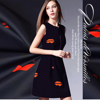 Red Lip Trench Coat Fabric Material Skirts Dress Fashion And Personality Polyester Fiber