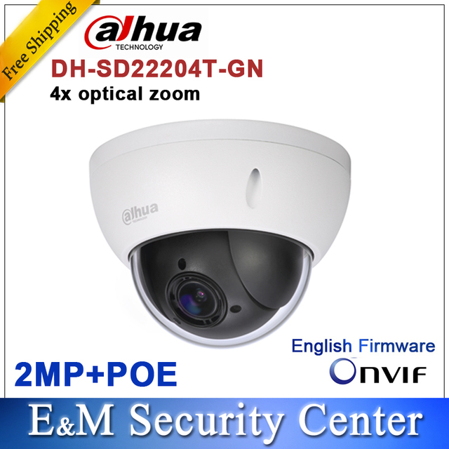 Groothandel dahua DH-SD22204T-GN CCTV IP 2 Megapixel Full HD Network Mini PTZ Dome 4x optische zoom SD22204T-GN POE Camera
