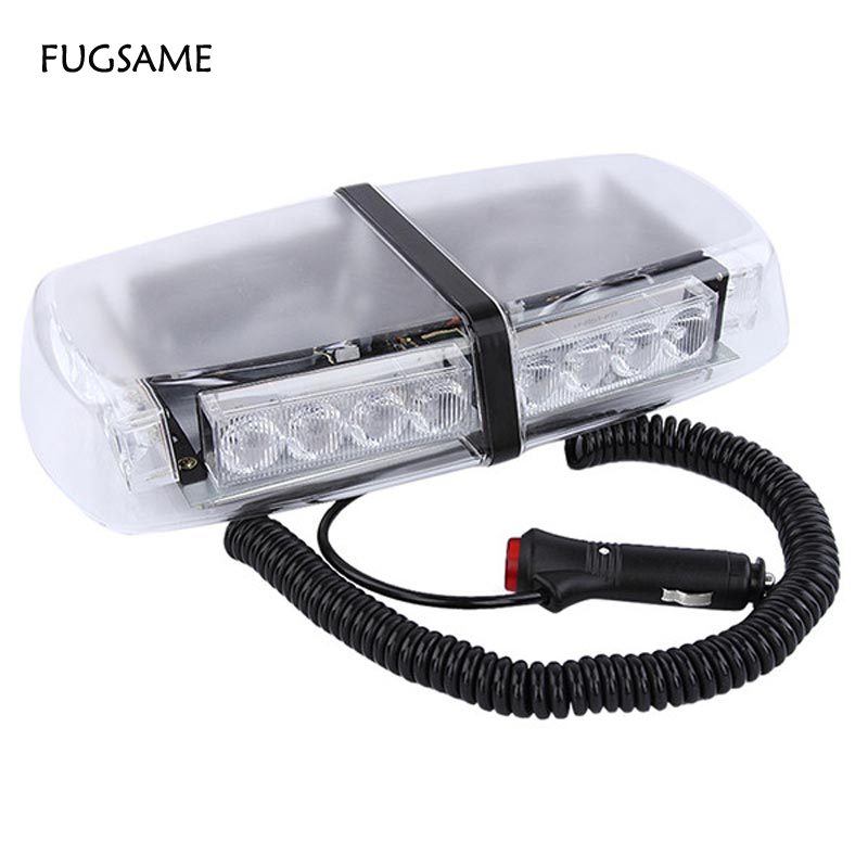 High Power 24 LED Car Auto Roof Flash Strobe Magnets Emergency EMS Warning   Police Light Flashing Lights 24LED White RED BLUE free shipping 240 led car auto roof flash strobe magnets 8 modes emergency strobe warning police light shell white color