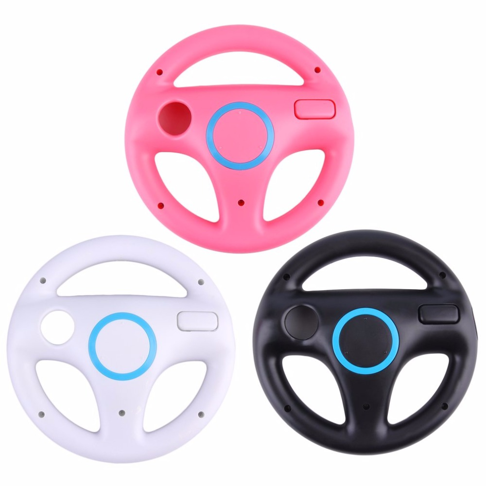 3 Color Plastic Innovative and ergonomlc design Game Racing Steering Wheel for Nintendo Wii for Mario Kart Remote Controller image