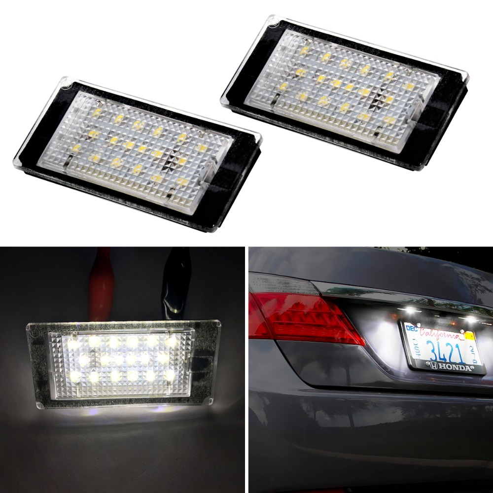 1Pair Car LED number License Plate Light 12V White SMD LED canbus lamp bulb Car Styling For BMW E46 2D E46 M3 98-03 accessories pro high pressure airless paint spray gun machine power paint tools supplies