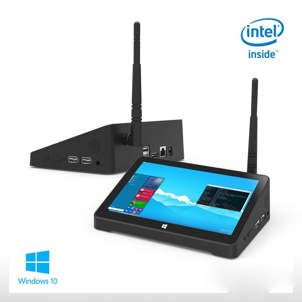 Media box BT Планшеты PC Оконные рамы 10 дома F2 7 Сенсорный экран WI FI Мини ПК все в одном ПК Intel 4 ядра мини поле ТВ рекламы pos